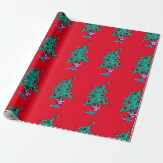 Wackeliges Weihnachtsbaum-Packpapier Geschenkpapier