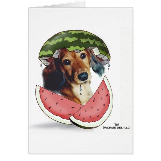 Waddleful Wassermelone Grußkarte