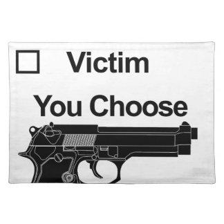 Waffenbesitzeropfer, das Sie wählen Tischset
