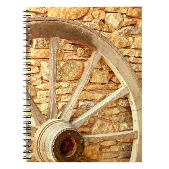 Wagen-Rad-Foto-Notizbuch Spiral Notizblock