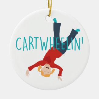 Wagen Wheelin Keramik Ornament