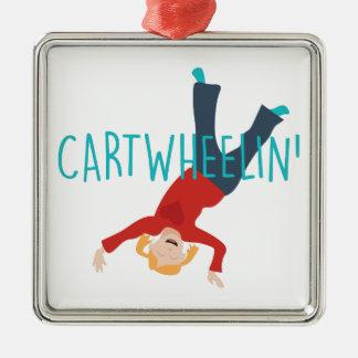 Wagen Wheelin Silbernes Ornament