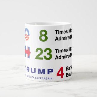 Wahl durch die Zahlen - riesige Tasse Jumbo-Tasse
