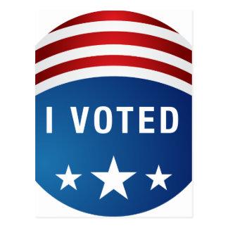 Wahl-Knopf-Ikone Abstimmung USA politische Postkarte