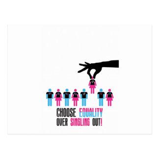 Wählen-Gleichheit-Über-Aussondern-Heraus Postkarte
