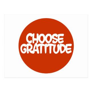 Wählen Sie Dankbarkeit Postkarten