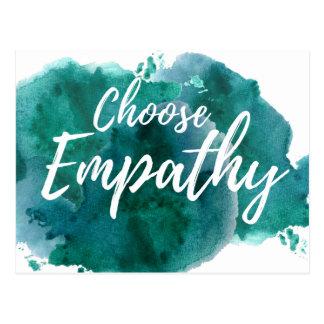Wählen Sie Empathie-Protest-Postkarte Postkarte