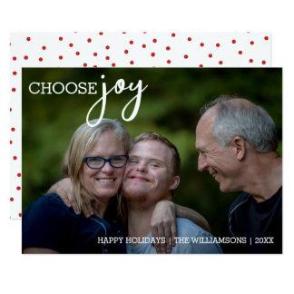 Wählen Sie Freude-modernes Weihnachtsglückliches 12,7 X 17,8 Cm Einladungskarte