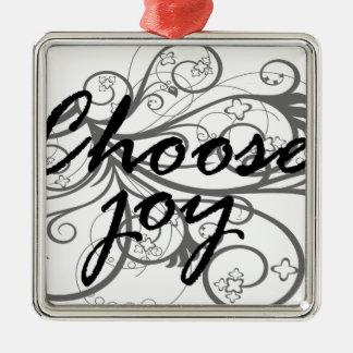wählen Sie Freude Silbernes Ornament