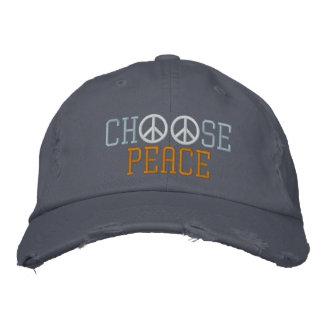 Wählen Sie Frieden Bestickte Baseballkappe