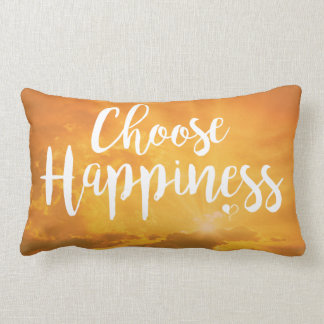 Wählen Sie Glück-gelbes lumbales Kissen