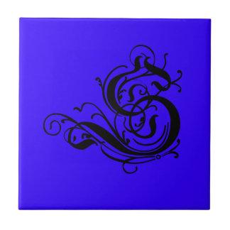 Wählen Sie Ihren mit Monogramm Brief S des Farbehi Kleine Quadratische Fliese