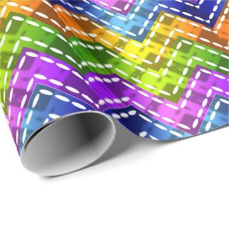 Wählen Sie Ihren Regenbogen der Farbew/Chevrons Geschenkpapier