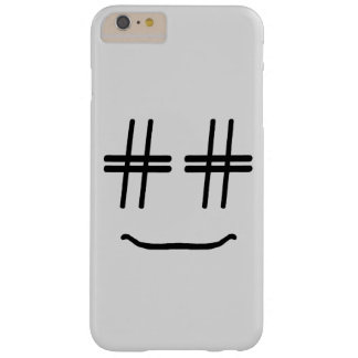 WÄHLEN Sie JEDE MÖGLICHE FARBE # Hashtag Smiley, Barely There iPhone 6 Plus Hülle