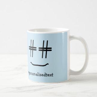 WÄHLEN Sie JEDE MÖGLICHE FARBE # Hashtag smiley, Kaffeetasse