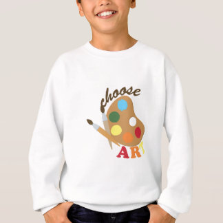 Wählen Sie Kunst Sweatshirt