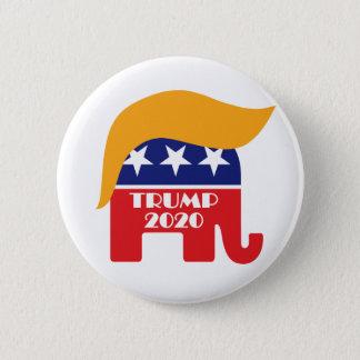 Wählen Sie Präsident Trump GOP-Elefant-Haar 2020 Runder Button 5,7 Cm