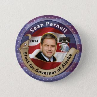 Wählen Sie Sean Parnell für Gouverneur von Alaska Runder Button 5,7 Cm