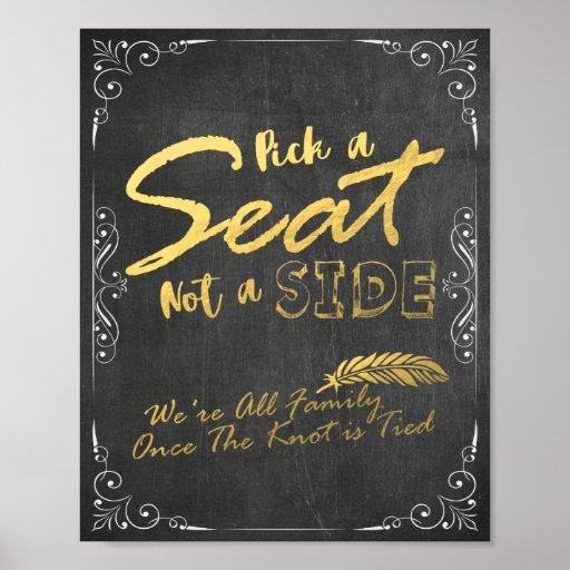 Wählen Sie Seat nicht ein Seitenschwarz-und Poster