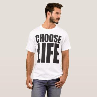 Wählen Sie Shirt des Leben-großen Druckes