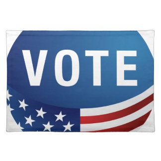 Wählenamerikanische Ikonen-runder Knopf uSA Tisch Sets