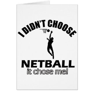 Wählte nicht Netball Grußkarte