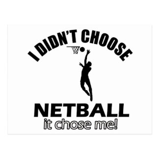 Wählte nicht Netball Postkarte