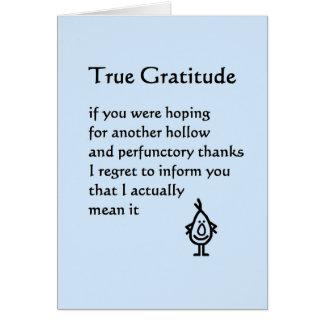 Wahre Dankbarkeit - ein lustiges danken Ihnen Grußkarte