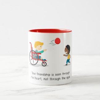 Wahre Freundschaften Zweifarbige Tasse
