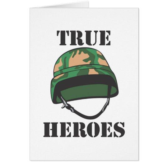 Wahre Held-Gruß-Karten Grußkarte
