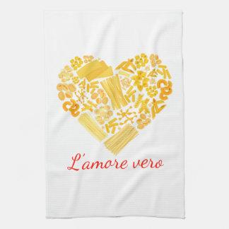 Wahre Liebe - italienisches Teigwaren-Küchen-Tuch Geschirrtuch