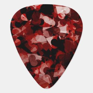 Wahre Liebe-rotes Herz-Gefühl mit schwarzer rosa Plektrum