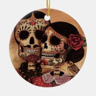 Wahre Liebe stirbt nie Keramik Ornament