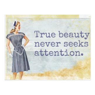 Wahre Schönheit - Postkarte