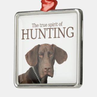 Wahrer Geist des glatten Graubären von Jagd Silbernes Ornament