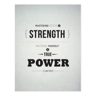 Wahrer Power - Inspirational Postkarte