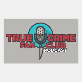 Wahrer Verbrechen-Fanclub-Aufkleber! Rechteckiger Aufkleber