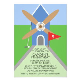 Wahres blaues 11,4 x 15,9 cm einladungskarte