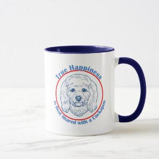 Wahres Glück mit einem Cockapoo Tasse