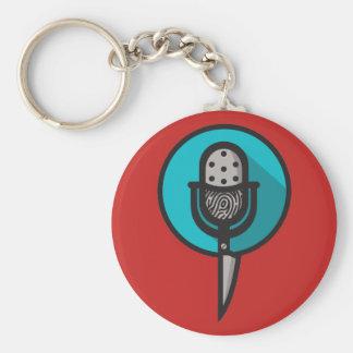 Wahres Verbrechen-Fanclub-Logo-Schlüsselkette Schlüsselanhänger