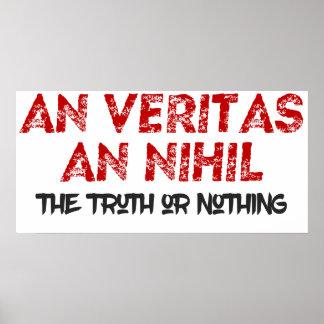 Wahrheit oder nichts lateinisches Plakat