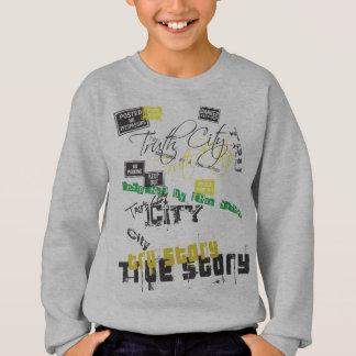 Wahrheits-Stadt @zazzle Blaupause cover.ai Sweatshirt