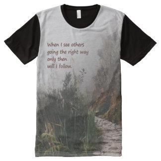 Wahrheits-Sucher-Shirt T-Shirt Mit Komplett Bedruckbarer Vorderseite