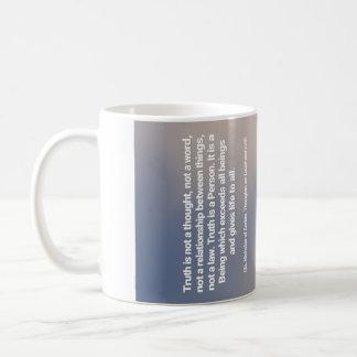Wahrheits-Zitat Kaffeetasse