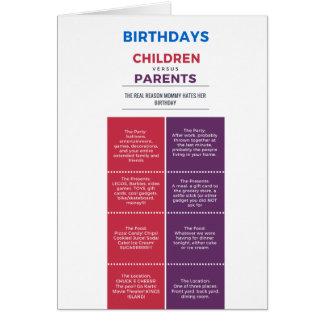 Wahrheitsgemäße der Geburtstags-Karte der Mammas Karte