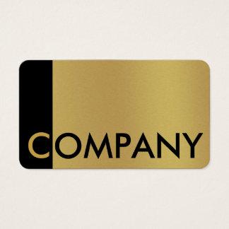 Wahrnehmbares gebürstetes Gold und schwarze Visitenkarten