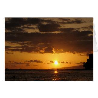 Waikiki Sonnenuntergang Karte