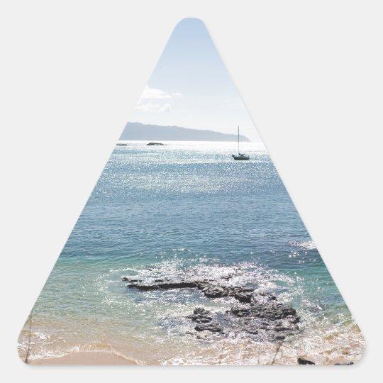 waimea Buchtpanorama Dreieckiger Aufkleber