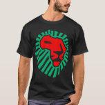Waka-waka africain de tête de lion. (côté 2) t-shirt