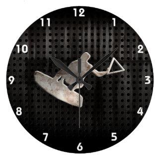 Wakeboarder; Cooles Schwarzes Uhren